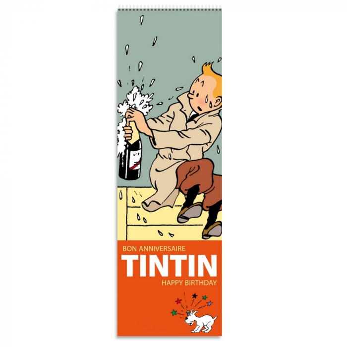 Calendario perpetuo de los aniversarios Tintín 15x47cm (24333)