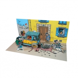 Diorama de collection Toubédé Editions Gaston Lagaffe: Scène de rue (2015)