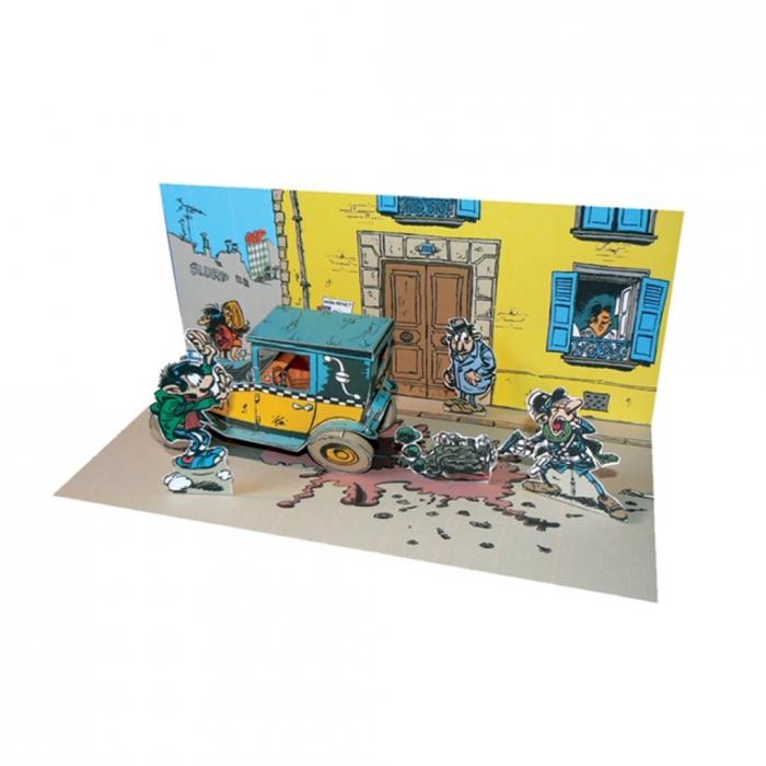 Diorama de collection Toubédé Editions Gaston Lagaffe: Scène de rue (2014)