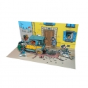 Collectible diorama Toubédé Editions Gaston Lagaffe: Street Scene (2015)