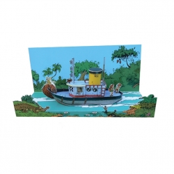 Collectible diorama Toubédé Editions Marsupilami: The Boat (2015)