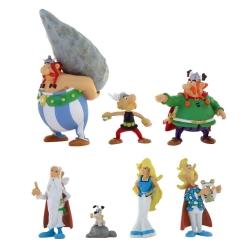 Serie tubo de 7 figuras Plastoy Asterix y Obelix Aldea 70385 (2017)