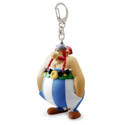 Porte-clés figurine Plastoy Astérix Obélix mains dans les poches 60590 (2017)