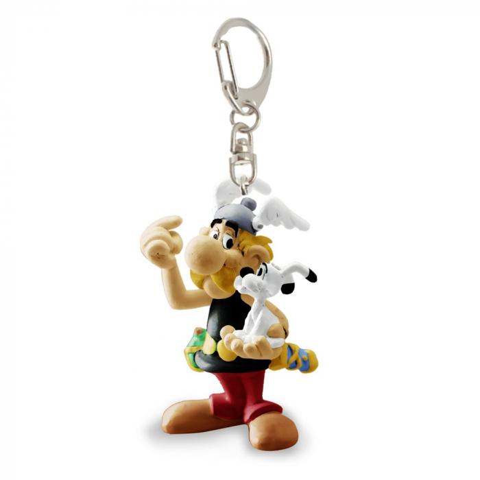 Porte-clés figurine Plastoy Astérix avec Idéfix 60589 (2017)
