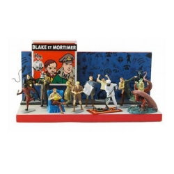 Set de 12 figurines Pixi Blake et Mortimer Origine + Présentoir (2017)