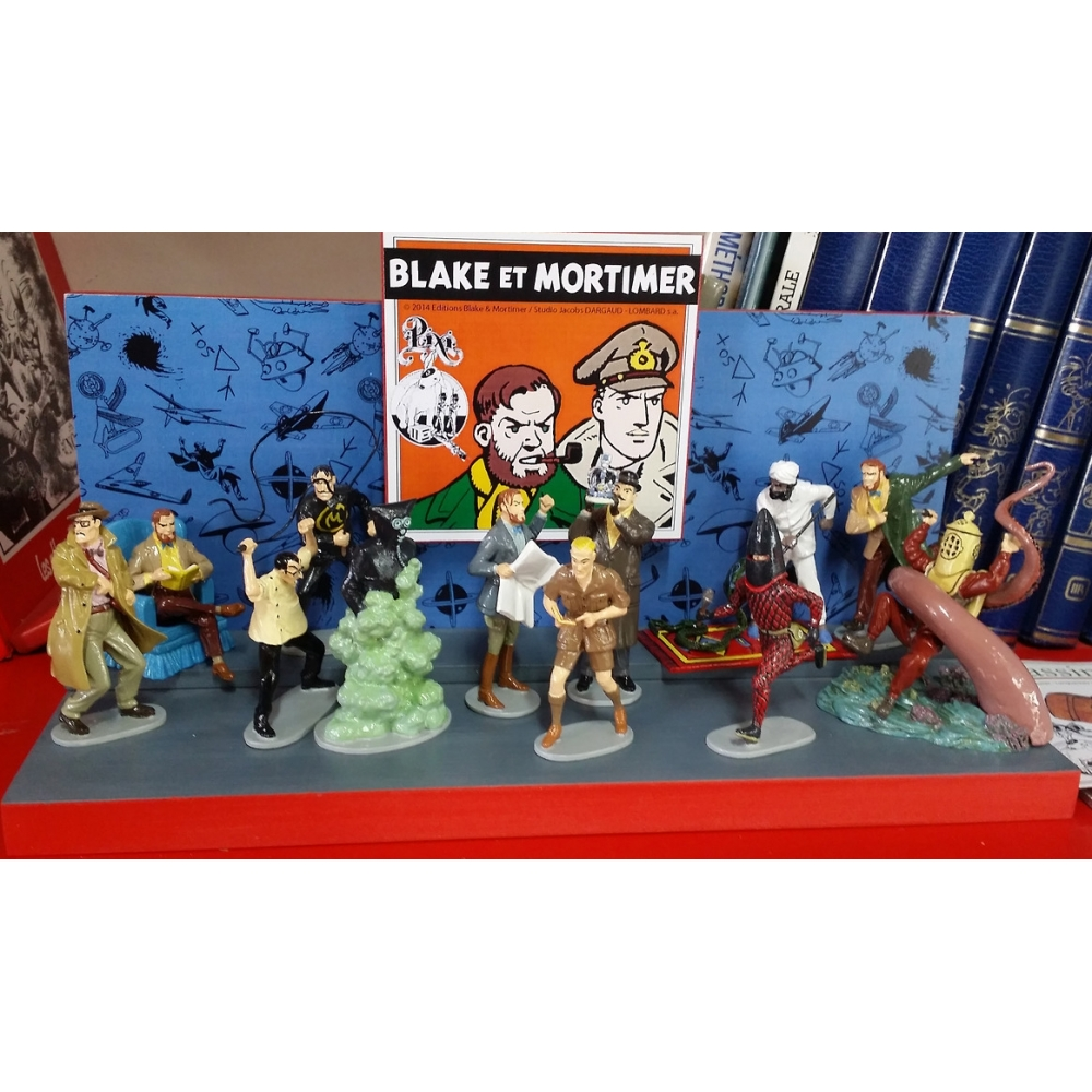 Set Of 12 Figurines Pixi Collection Blake And Mortimer