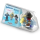 Baby Toiletry Bag with 3 figures Plastoy The Smurfs 80542 (2017)