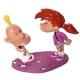 Figura de colección Pixi Titeuf y Nadia, la bofetada 5855 (2003)