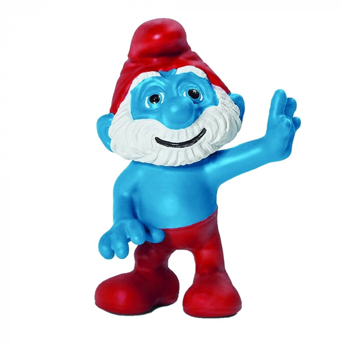 The Smurfs Schleich® Figure - Papa Smurf saluting (20754)