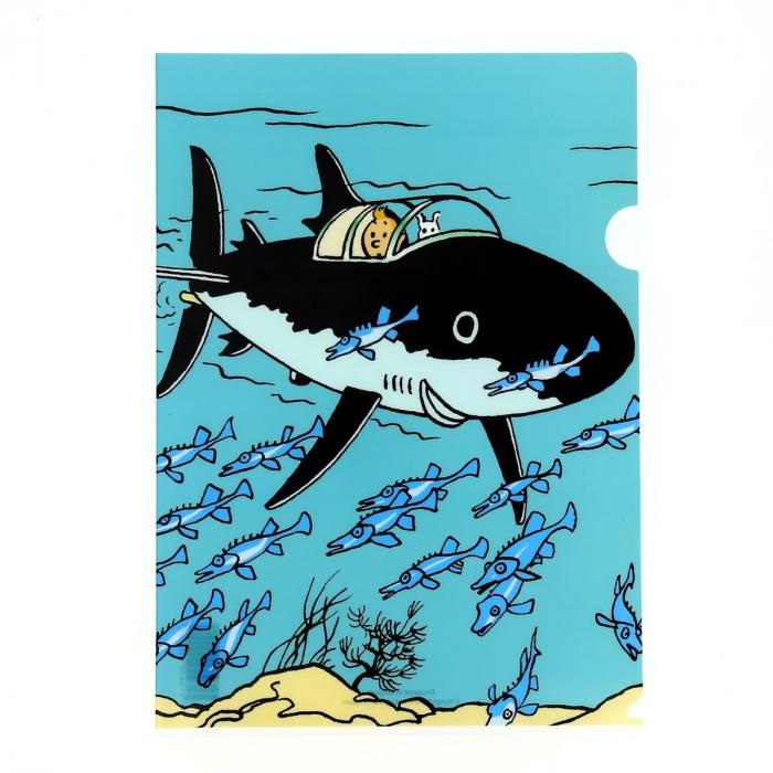 Carpeta dossier A4 Las aventuras de Tintín en el submarino tiburón (15136)