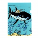 A4 Plastic Folder The Adventures of Tintin in the underwater shark (15136)