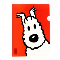 A4 Plastic Folder The Adventures of Tintin Snowy - Red (15118)