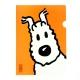 Pochette plastique A4 Les Aventures de Tintin Milou - Orange (15119)