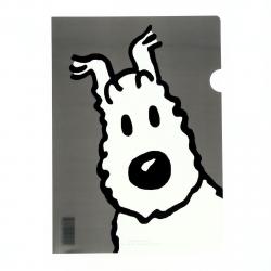A4 Plastic Folder The Adventures of Tintin Snowy - Grey (15117)
