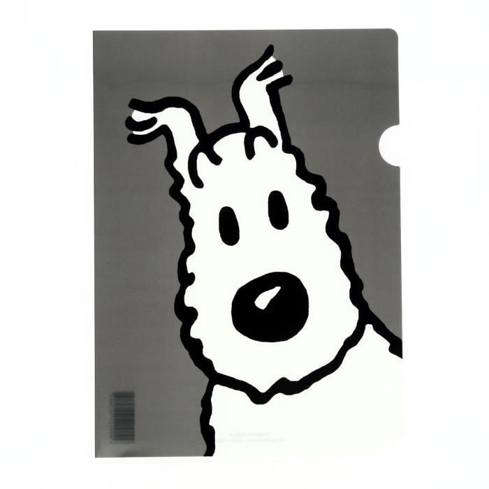 Pochette plastique A4 Les Aventures de Tintin Milou - Gris (15117)