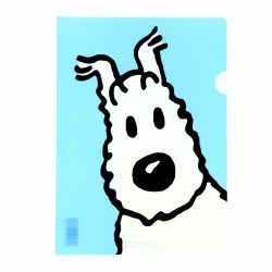 A4 Plastic Folder The Adventures of Tintin Snowy - Light blue (15111)
