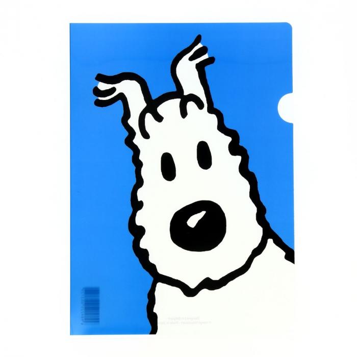 Pochette plastique A4 Les Aventures de Tintin Milou - Bleu (15121)