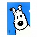 A4 Plastic Folder The Adventures of Tintin Snowy - Blue (15121)