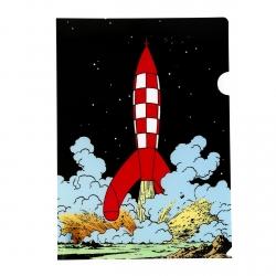 Carpeta dossier A4 Las aventuras de Tintín el cohete lunar despegando (15134)