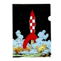 A4 Plastic Folder The Adventures of Tintin The Lunar Rocket taking off (15134)
