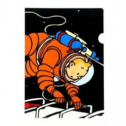 Pochette plastique A4 Les Aventures de Tintin sur la lune (15124)