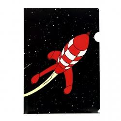 Pochette plastique A4 Les Aventures de Tintin la fusée lunaire rouge (15122)