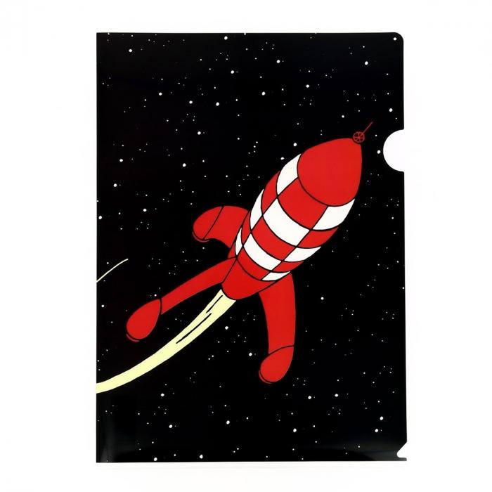 Carpeta dossier A4 Las aventuras de Tintín el cohete lunar rojo (15122)