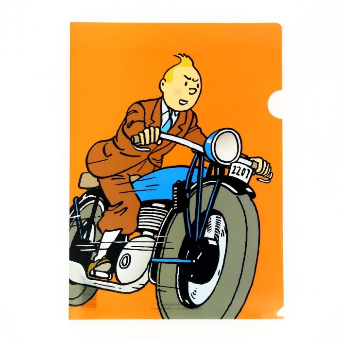 Pochette plastique A4 Les Aventures de Tintin en moto (15113)