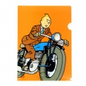 A4 Plastic Folder The Adventures of Tintin on a motorcycle (15113)