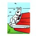 Pochette plastique A4 Les Aventures de Tintin. Milou accroché au coffre (15103)