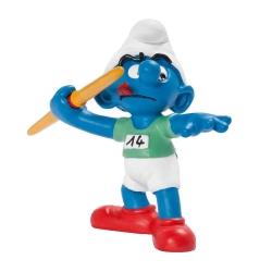 Figura Schleich® Los Pitufos - El Pitufo lanzador de jabalina (20744)