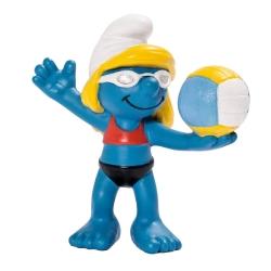 Figura Schleich® Los Pitufos - La Pitufa jugadora de voleibol (20738)
