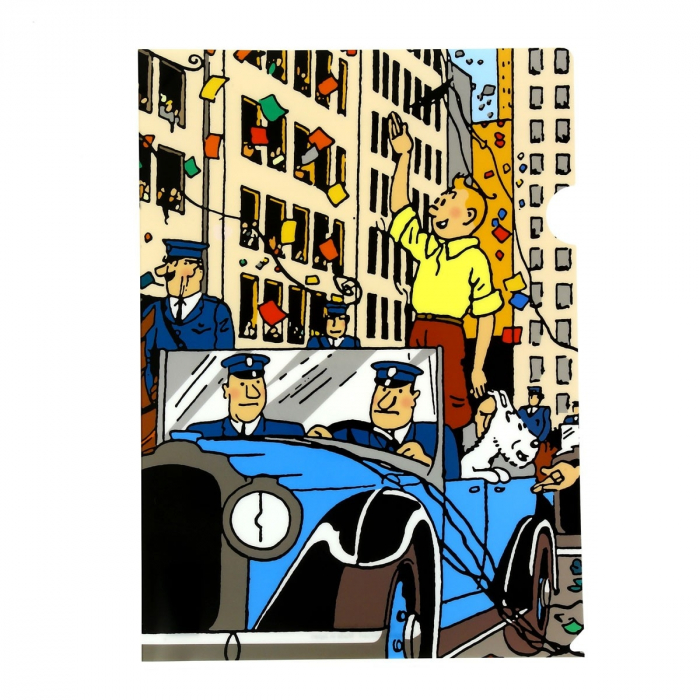 A4 Plastic Folder The Adventures of Tintin in America (15135)