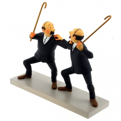 Figurine Moulinsart Fariboles Tintin, Thomson and Thompson 44020 (2017)