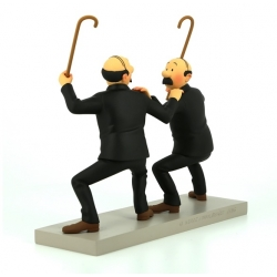 Figurine de collection Moulinsart Fariboles Tintin Dupond et Dupont 44020 (2017)
