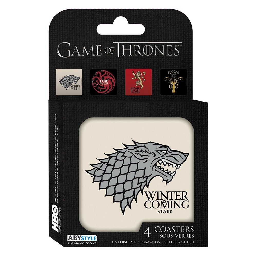 set de 8 sous verres abystyle game of thrones maisons bd addik. Black Bedroom Furniture Sets. Home Design Ideas
