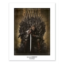 Póster cartel ABYstyle Game of Thrones Ned Stark Trono de Hierro (50x40cm)