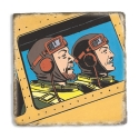 Collectible marble sign Blake and Mortimer Secret of the Swordfish 1 (20x20cm)