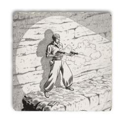 Placa de mármol colección Blake y Mortimer El secreto del Espadón 2 (20x20cm)