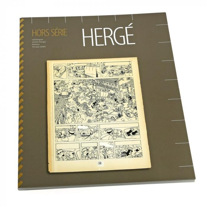 Auction catalogue Hergé in Namur 2009 Tintin (04021)