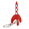Keyring chain figurine Tintin The Moon Rocket 5,5cm Moulinsart 42438 (2010)