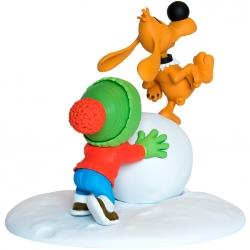 Figura de colección Bill y Bolita con la bola de nieve (2016)