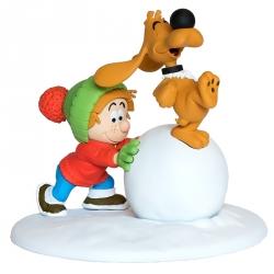 Figurine de collection LMZ Boule et Bill avec boule de neige (2016)