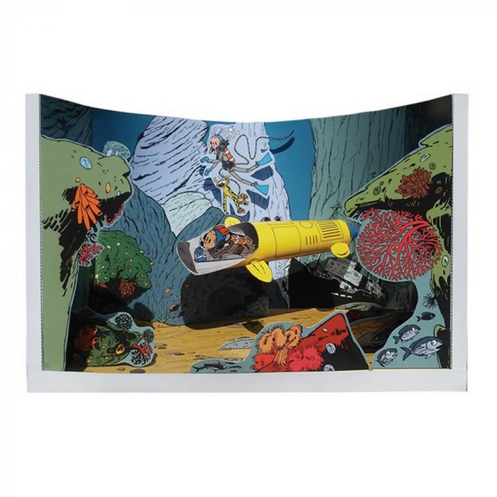 Diorama de colección Toubédé Editions Spirou: La guarida de la morena (2017)