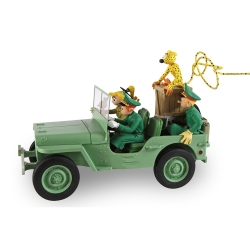 The Jeep Willys MB Spirou and Fantasio, Marsupilami Figures et Vous GF12 (2017)