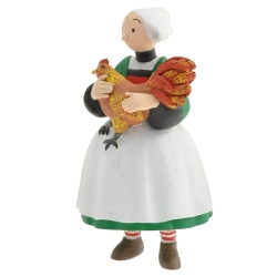 Figurine de collection Plastoy Bécassine avec son coq 61023 (2014)