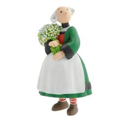 Figurine de collection Plastoy Bécassine avec son bouquet de fleurs 61024 (2014)