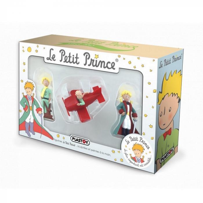 Coffret cadeau avec trois figurines Plastoy Le Petit Prince 61040 (2016)