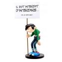 Figurine Plastoy Gaston Lagaffe et sa pancarte interdit d'interdire... (00315)