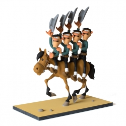 Figurine de collection Fariboles Lucky Luke Les Dalton à cheval (2017)